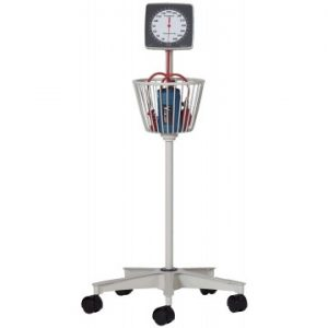 Blood Pressure - Mobile aneroid with basket & stand, non-latex