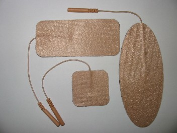 """Electrode pads - flexible peel & stick reusable for TENS and EMS, 1.25"""" x 2.0"""""""
