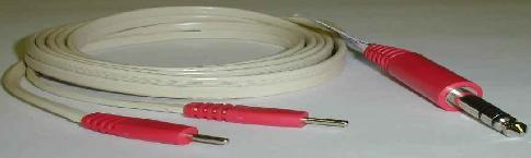 "Lead Wire - mini dual female (.04"" socket) to .08"" pin connectors, 36"" long"