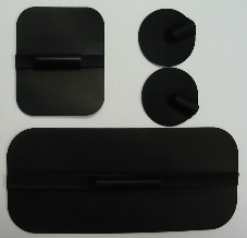 "Electrode pads - TENS/EMS reuseable, 1"" x 1"""